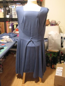 """finished"" muslin of a dress to be remade later"