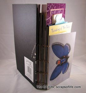 Finished card book, spine-view