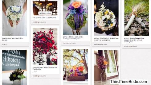 my wedding flowers pin-board