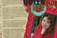 """""""Queen Bee"""" digital art journal layout"""