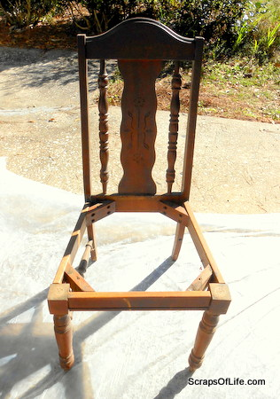 My $3 side-of-the-road antique store chair.