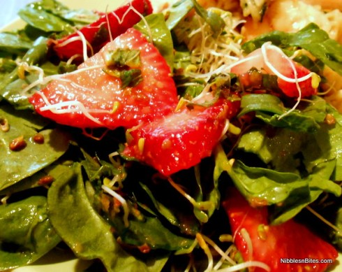 Greens with Strawberry Dressing