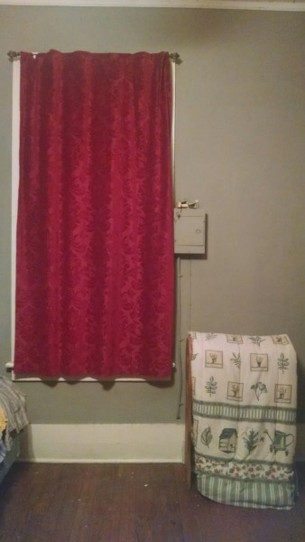 We try not to remind our curtains of their shortcomings.