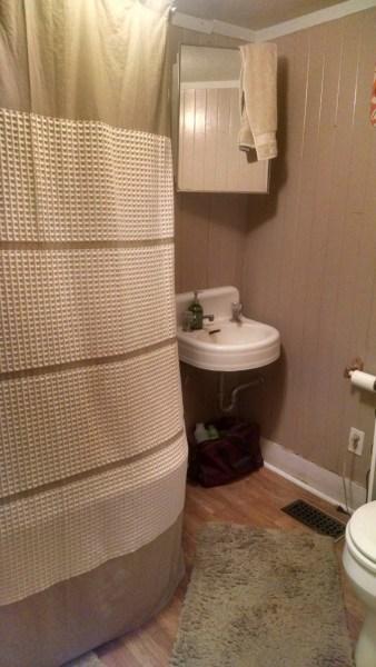 Downstairs bath: sink corner