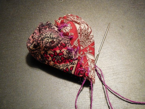 Sculpted Fabric Hearts
