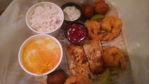Mahi Mahi and Shrimp special at George & Louie's