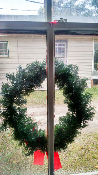 And there you go! One safely hung wreath!