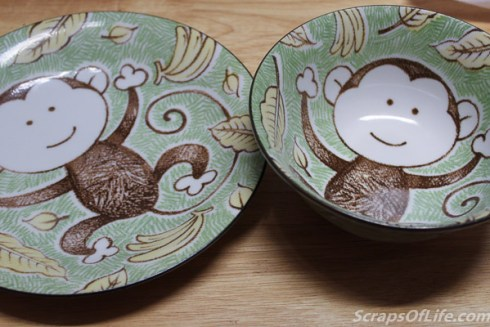 And you know that we'll be enjoying our Year of the Monkey supper on the dishes we picked up on our honeymoon.