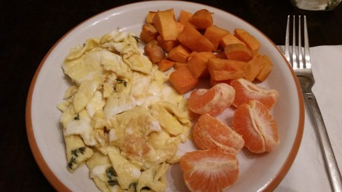 Sunday: Sweet Potato Home Fries with Eggs + tangerines (link)