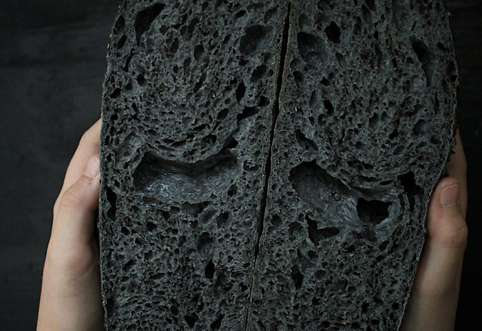 Charcoal Black Sesame Sourdough Scratch Eats