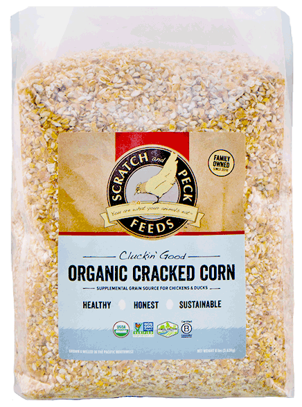 Cluckin' Good Organic Corn | Scratch and Peck Feeds
