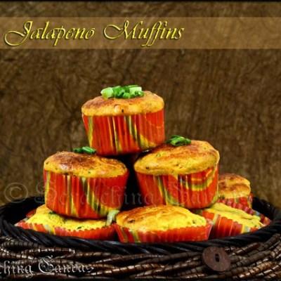 Garlicky Corn Jalapeno Savory Muffins