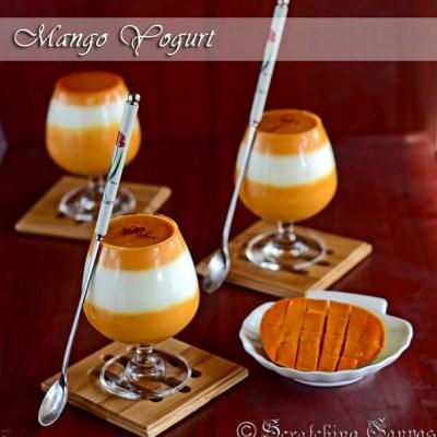 Aam Doi: Homemade Sweet Mango Yogurt: No cook No bake dessert