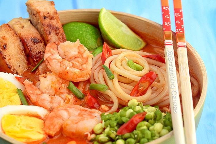 Laksa Lemak | Malaysian Curry Laksa | Curry Me | Nyonya Lemak | Noodles Soup