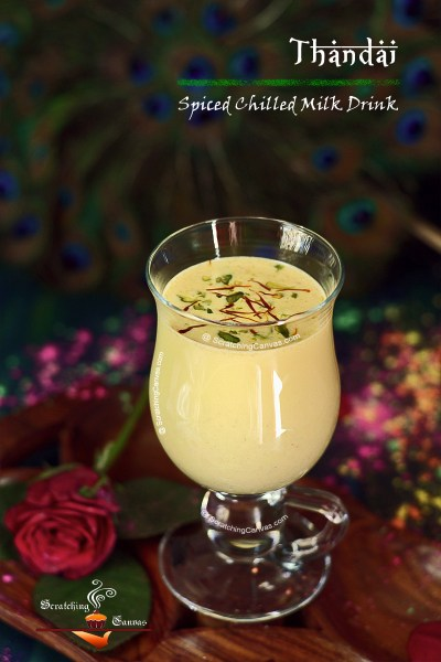 Thandai | Sardai | Spiced Chilled Almond Milk Drink | Holi Recipes