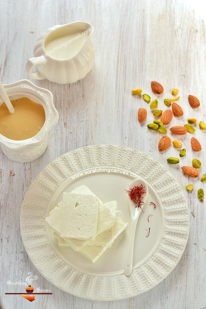 Ice cream Sandesh Ingredients