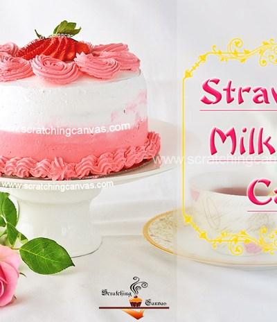 Strawberry Milkshake Cake   Rosette Cake   Valentine's Day Strawberry Cake
