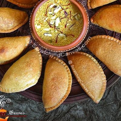 Baked Moong Dal Gujiya | Baked Moong Dal Karanji | Baked Indian Sweet Empanadas