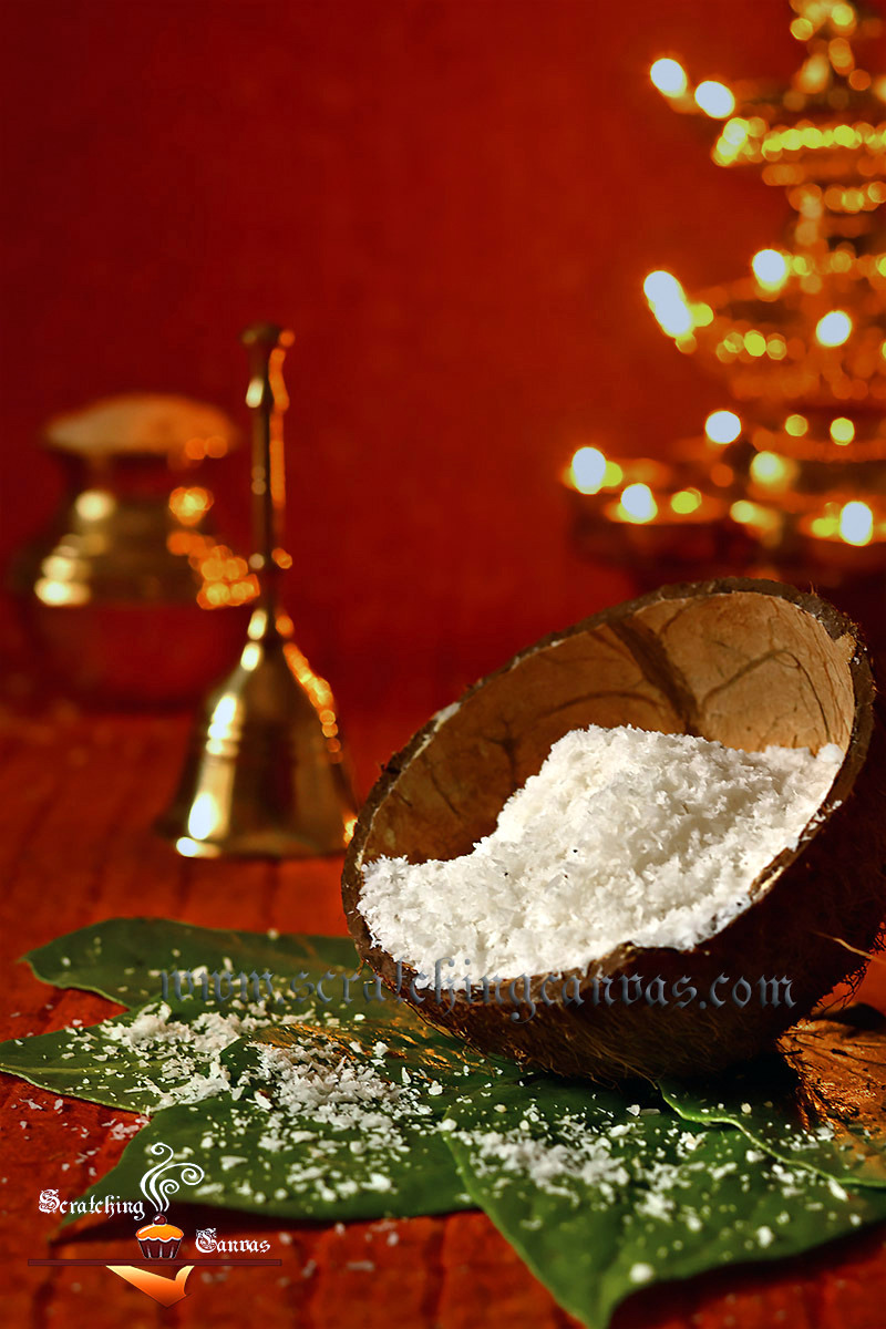 Desiccated Coconut Food Photography