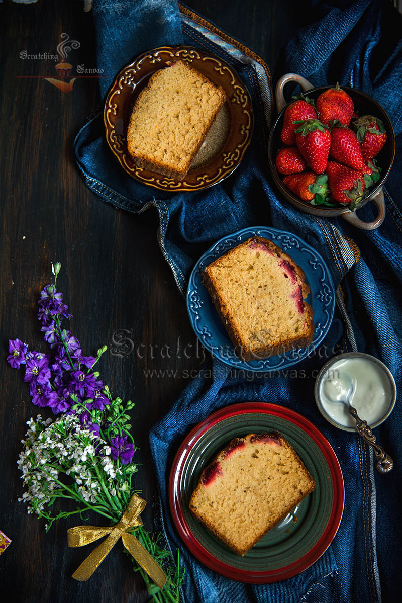 Strawberry Cake Photography Styling
