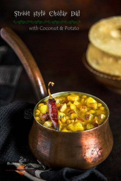 Alu Diye Cholar Dal Mishti'r Dokan Style | Bengal Gram Lentil with Potato