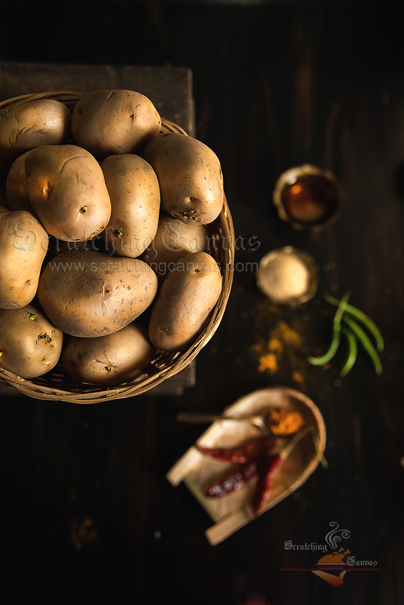 Potato Food styling Photography
