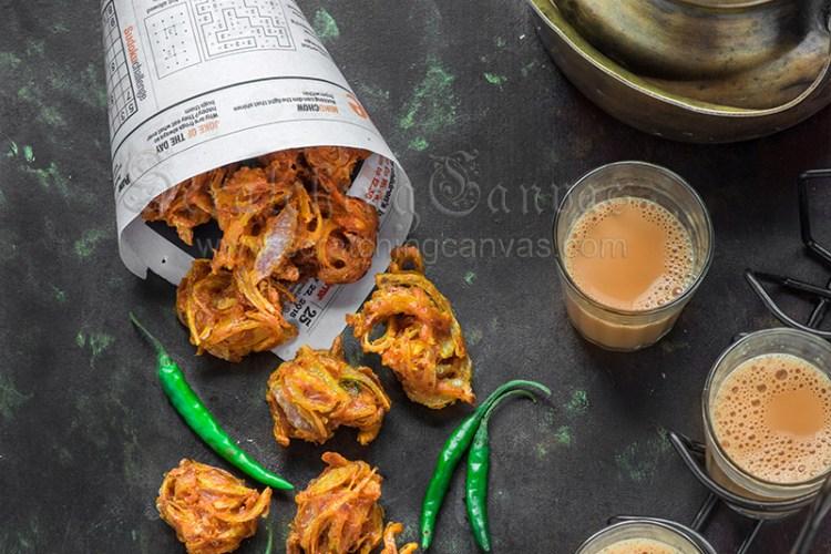 Peyaji Aam Ada diye | Crispy Pyazi | Onion Pakora | Kanda Bhaji | Onion Fritters