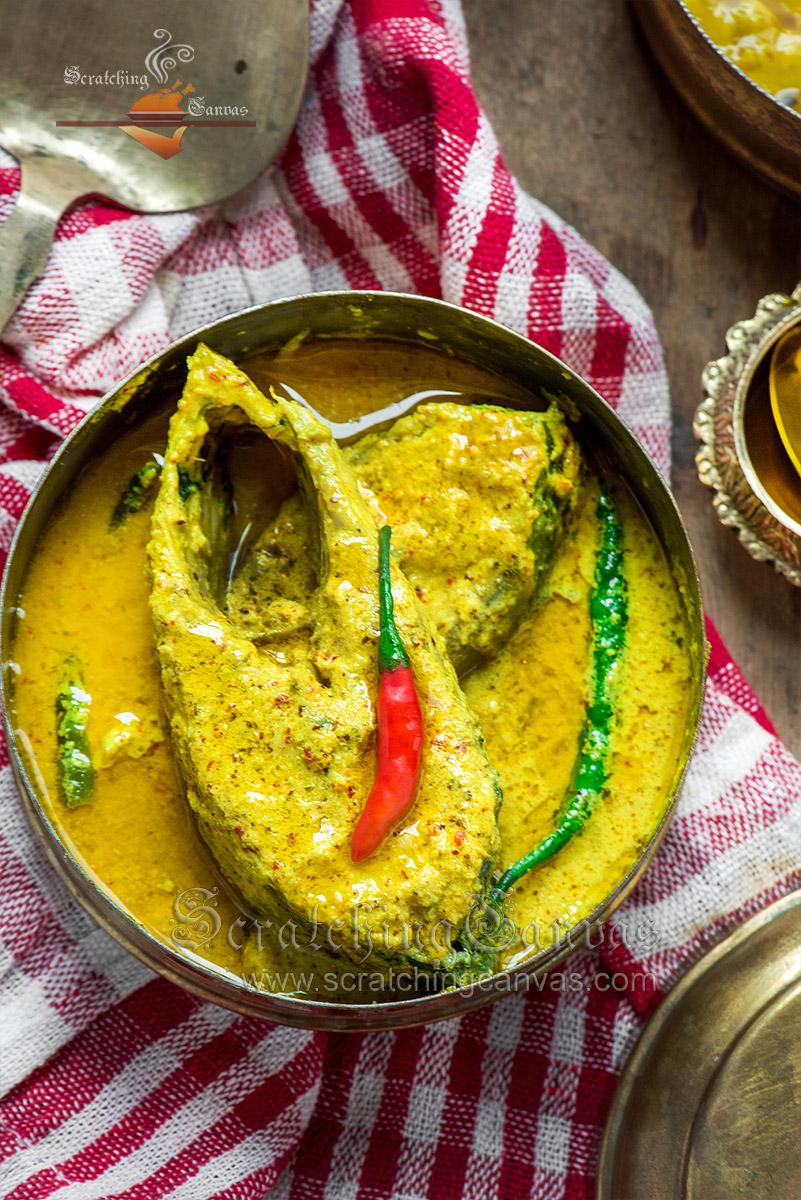 Bhapa Ilish Shorshe Food Photography Styling