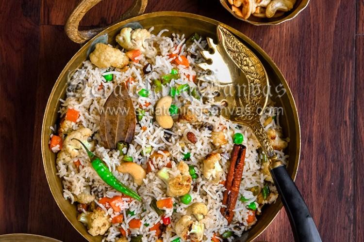 Bengali Vegetable Fried Rice | Vegetable Pulao | Ghee Bhat Bengali wedding style