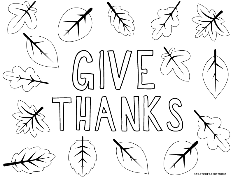 Freebie Friday: Thanksgiving Coloring Sheets