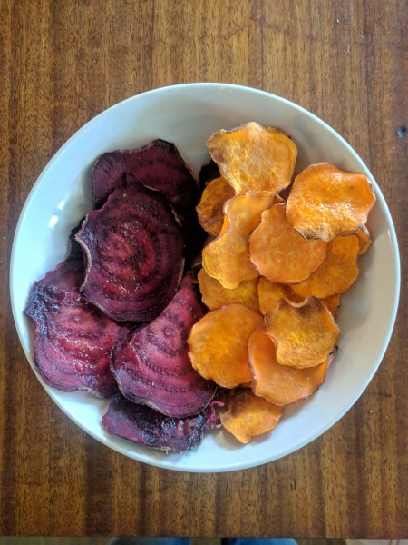 Veggie chips give an extra serving of veggies with a little crunch.