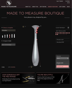 design your own sex toy with made to pleasure's sex toy design boutique