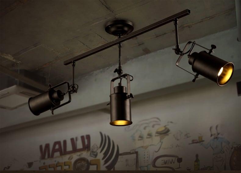 jerker stylish spotlight with track pole