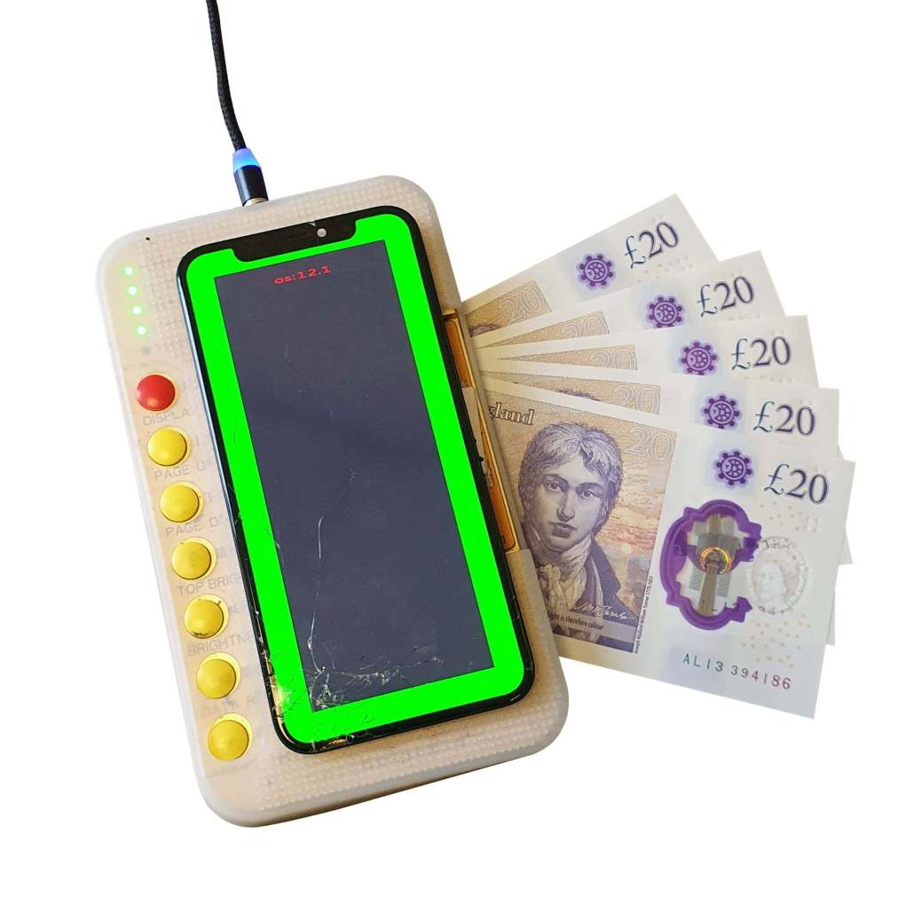 LCD tester with money