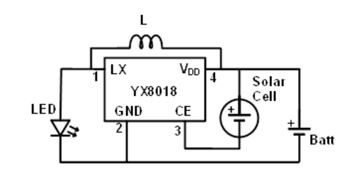 XY8018 Joule Thief Solar Light DCDC Converter In TO90
