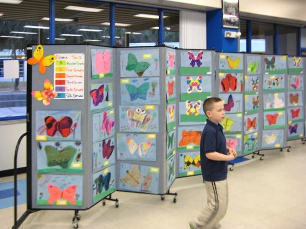 School Art Show Display Panels