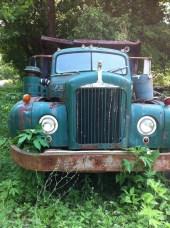 Rusty old Mack truck