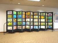Affordable Education Art Display System | Screenflex Room ...