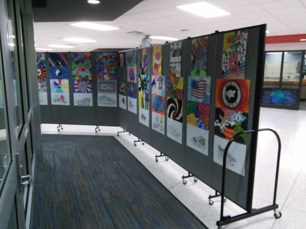 Popular Middle School Art Show Display Screenflex