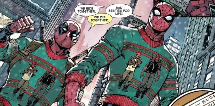 deadpool and spiderman comic ile ilgili görsel sonucu