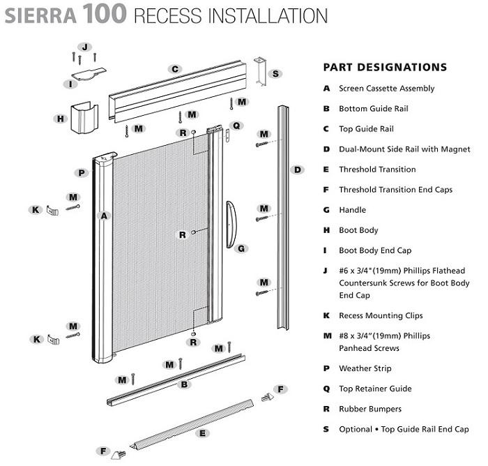 Genius Sierra 100-200 DIY Retractable Screens