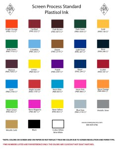 Epic color chart also screenprocess rh