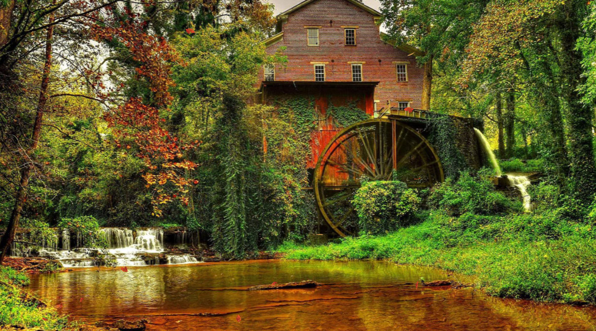 Serene Wallpapers Large Fall Old Mill Screensaver Screensavergift Com