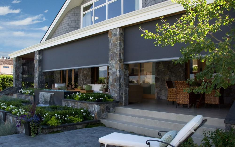 Retractable screens and awnings screens of northern Motorized porch screens