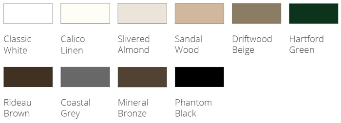 Phantom Screens Signature Colors