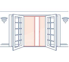 Phantom Screens Legacy Double Door