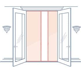 Phantom Screens Legacy Over height Double Door