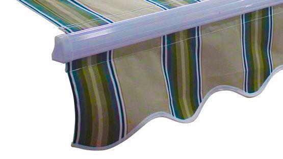 · tela di cotone · misto poliestere · acrilico · olefina. Volant In Tessuto Tempotest Cucito O Saldato Per Tende Da So