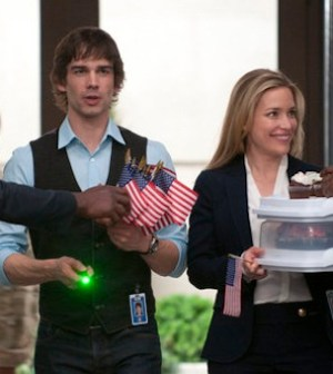 Christopher Gorham and Piper Perabo in COVERT AFFAIRS (Photo by Christos Kalohoridis/USA Network)