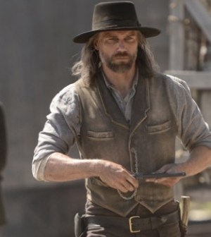 (foreground) Anson Mount as Cullen Bohannon in AMC's Hell on Wheels